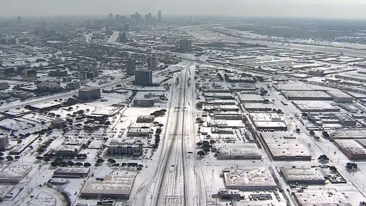 Tempeste di neve in Texas